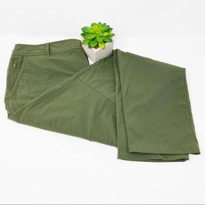 Eddie Bauer Travex Nylon Travel Pant Sage Green 12